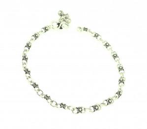 Flower chain anklet