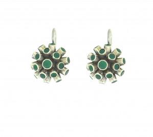 beautiful green onyx round earring