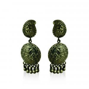 antique bird earring