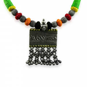 Jhalar pendant necklace