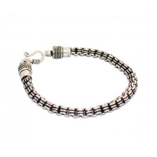 Handmade Silver Oxidised Bracelet