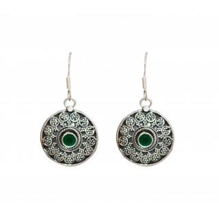 Green Onyx Designer Jhumka Bali