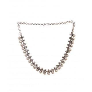 Oxidised Ratangarhi Ball Necklace